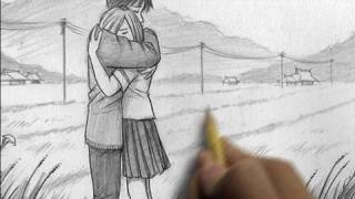 getlinkyoutube.com-How to Draw People Hugging