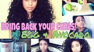 getlinkyoutube.com-Bring Back Your Curls! Egg & Avocado Hair Mask ❤