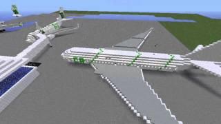 getlinkyoutube.com-Timelapse d'un avion sur Minecraft : Boeing 777-200 + Présentation