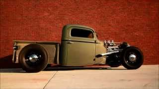 getlinkyoutube.com-1935 Chopped Ford Pickup Truck, Traditional Hot Rod Burn Out HAMB SCTA Teaser Film, FOR SALE