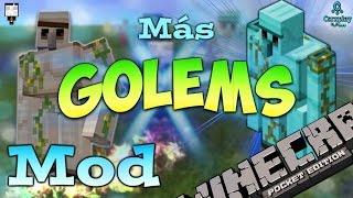 getlinkyoutube.com-Mod Para Minecraft PE 0.12.1 Más Golems - Golem World PE V4 Mod