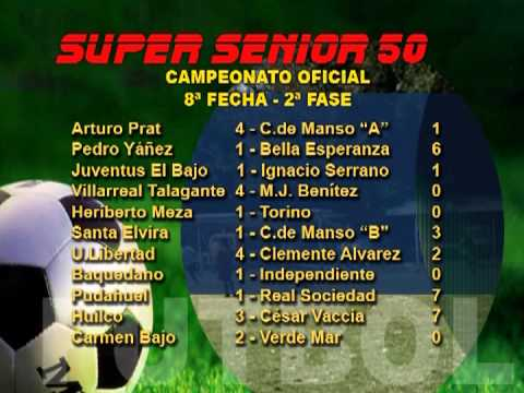 RESULTADOS LIGA BARRIOS Y SUPER SENIOR