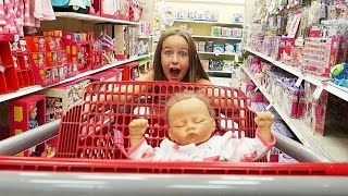 getlinkyoutube.com-Toy Shopping with Reborn Baby Sophia Doll Reborns Videos