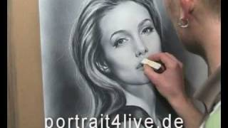 getlinkyoutube.com-Angelina Jolie - portrait painting / drawing by Sergius Pabst