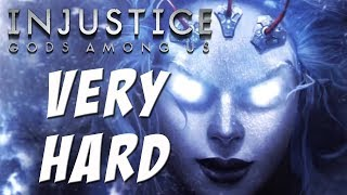 getlinkyoutube.com-Injustice: Gods among us - Killer Frost - Classic battles on Very Hard - NO MATCHES LOST!