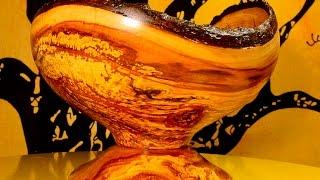 "getlinkyoutube.com-Tokar Art 66 Woodturning ""Totally Spalted & Cracked"""