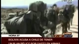 Bolivia acusa a Chile de tener un plan bélico por compra de armas
