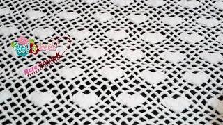 getlinkyoutube.com-كروشيه غرزه فيليه القلوب لعمل مفارش السفره والسرير وكوفرته البيبى \ crochet Filet stitch hearts