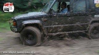 getlinkyoutube.com-Tor Off Road CAMP 4x4 Błoto po deszczu / Isuzu Trooper offroad