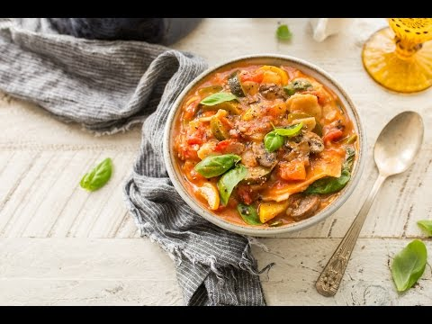 Slow Cooker Vegetarian Lasagna Soup (DF, GF)