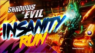 getlinkyoutube.com-BLACK OPS 3 ZOMBIES SHADOWS OF EVIL: INSANITY RUN (Quick, Fun, & Crazy)