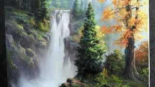 getlinkyoutube.com-Paint with Kevin Hill - Rushing Waterfall