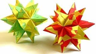 getlinkyoutube.com-Modulares Origami - Bascetta-Stern falten (bascetta-star)