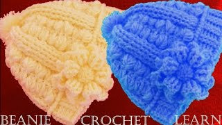 getlinkyoutube.com-Como tejer gorro boina a Crochet o Ganchillo  en doble punto relieve