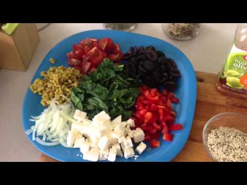 Vegetarian Chick pea salad