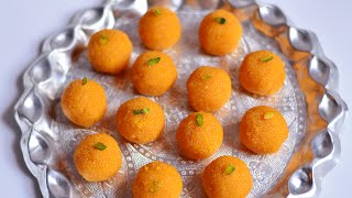 getlinkyoutube.com-Homemade Motichoor Ladoo Recipe | Motichur Laddu Recipe | Indian Sweets