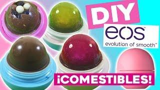 getlinkyoutube.com-EOS comestibles DIY * Cómo hacer 5 RECETAS dulces en tus labiales