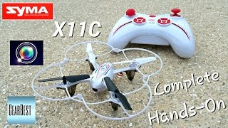 getlinkyoutube.com-Syma X11C Quadcopter $37.99 - [Review & Outdoor Test] HD Camera - Gearbest.com