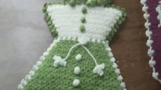 getlinkyoutube.com-Manualidades de crochet faciles:  calzado, cocina y baño tejidos al estilo Turco