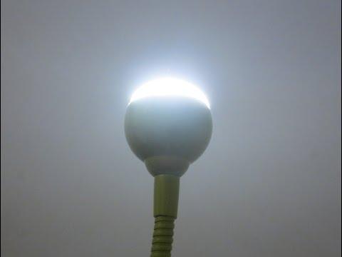 كيف تشحن اضواء الطاقه الشمسيه بنور اللمبه ?
