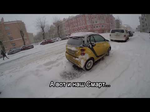 Smart ForTwo снежной зимой