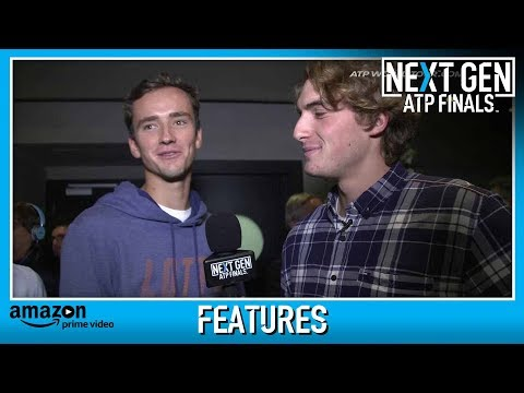 Greek Tsitsipas Plays Reporter At Next Gen ATP Finals 2017