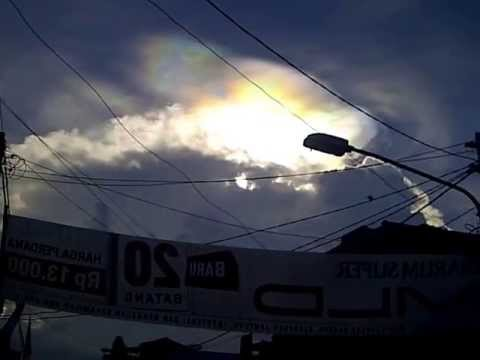 Circumhorizontal arc (Fire Rainbow) in Indonesia