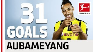 Pierre-Emerick Aubameyang - All his Goals 2016/2017 Season
