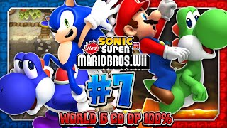 getlinkyoutube.com-Sonic & Mario in New Super Mario Bros Wii - Co Op 100% - Part 7