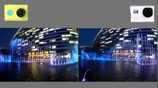 getlinkyoutube.com-Original footage comparison: YI Action Camera VS SJ6000 WIFI Action Camera