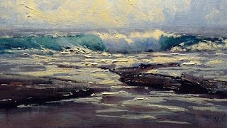 Seascape Painting in Acrylics - Michael Cawdrey