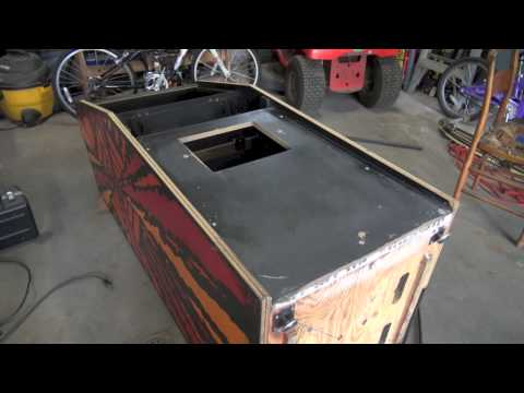 How to install t-molding, restore a coin door, and paint an arcade cabinet - Gyruss Restore (Part 6)