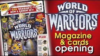 getlinkyoutube.com-World of Warriors cards opening - opening the magazine pack