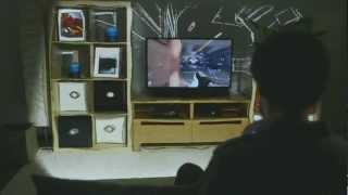 IllumiRoom Projects Images Beyond Your TV for an Immersive Gaming Experience