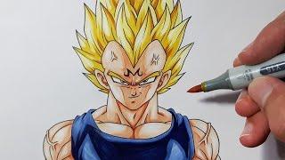 getlinkyoutube.com-How To Draw MAJIN Vegeta - Step By Step Tutorial!