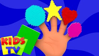 getlinkyoutube.com-Shapes Finger Family   Learn Shapes   Nursery Rhymes For Kids And Childrens   Shapes Song