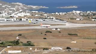 Mykonos Easyjet Landing