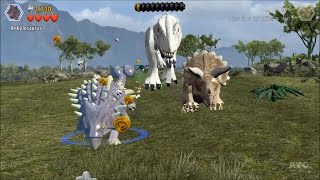 getlinkyoutube.com-LEGO Jurassic World - All Bonus Levels (Dinosaurs Chases) (PC HD) [1080p]