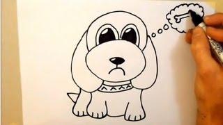 getlinkyoutube.com-Draw a cartoon dog in 2 minutes