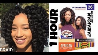getlinkyoutube.com-#106. JAMAICAN BOUNCE 26 INCH - Sensationnel African Collection Synthetic Braid