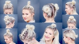 10 EASY Different Bun Hairstyles For Short Hair | Milabu width=