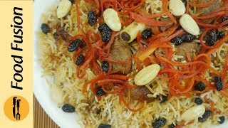 getlinkyoutube.com-Kabuli Pulao (Afghani Pulao) Recipe By Food Fusion