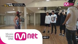 getlinkyoutube.com-Mnet [BTS의 아메리칸허슬라이프] Ep.03 : 방탄소년단, 힙합튜터 제니 키타 앞에서 댄스 실력 테스트!