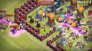 getlinkyoutube.com-Castle Clash HBM J F2P TH 17 !!!!!