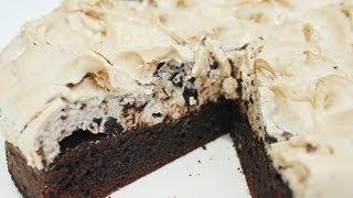 getlinkyoutube.com-เค้กบราวนี่เมอแรงค์กาแฟ Coffee-Meringue Brownie Cake