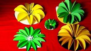 getlinkyoutube.com-Как украсить подарок своими руками, цветы из бумаги