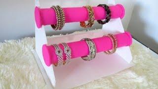 getlinkyoutube.com-DIY Bracelet Holder | Bangle Stand