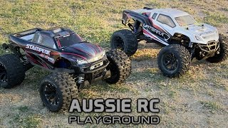 getlinkyoutube.com-RC RACE WARS: Stampede 4x4 vs Halix MT