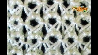 getlinkyoutube.com-Como Tejer Punto Peruano- Broomstick Lace (87)