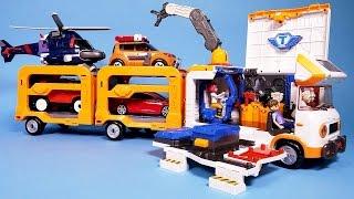 getlinkyoutube.com-또봇 쪼꼬베이스 헬로카봇 파워레인저 다이노포스 장난감 TOBOT BASE toy trailer & sticker